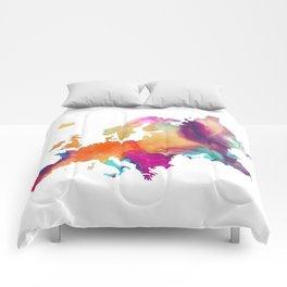 Europe map 1 Comforters
