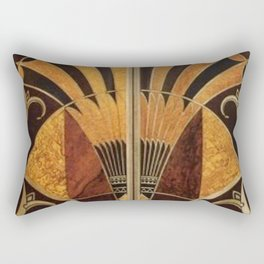art deco wood Rectangular Pillow