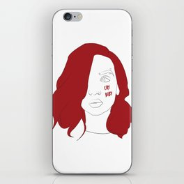 Cry baby vector portrait iPhone Skin