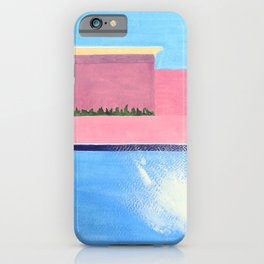 Splash! after David Hockney iPhone Case