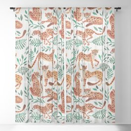 Cheetah Collection – Orange & Green Palette Sheer Curtain