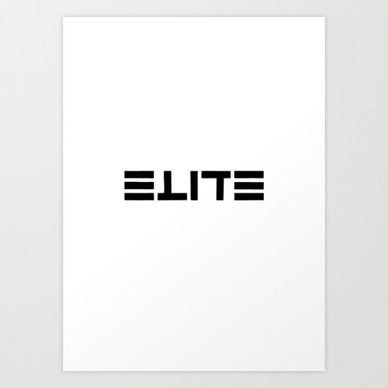 ELITE - Ambigram series Art Print