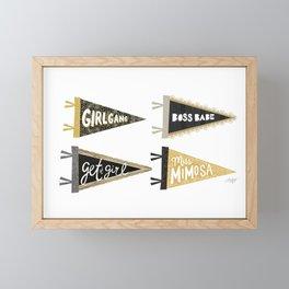 Girl Gang Pennants Framed Mini Art Print