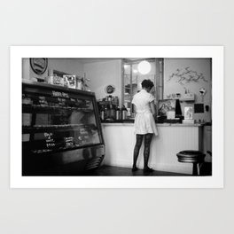 Bakery Girl Art Print