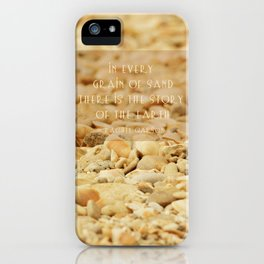 In every grain of sand iPhone Case