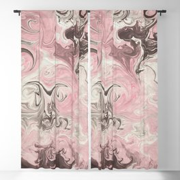 Black Magic Marble Pink White Design Blackout Curtain