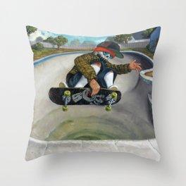 Pool Calavera Throw Pillow