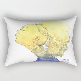 Yellow Blue Girl Rectangular Pillow