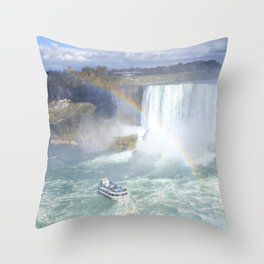 Rainbows and Mist Throw Pillow