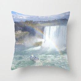 Rainbows and Mist Throw Pillow