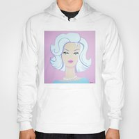 barbie Hoodies featuring Frosty Barbie by Little Bunny Sunshine