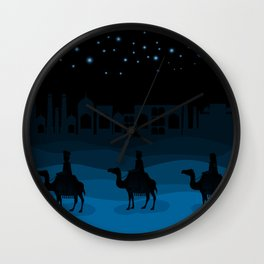 christmas night Wall Clock