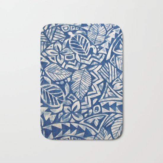 Hawaiian tribal pattern Bath Mat
