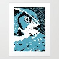 'Owl' by Sarah King Art Print