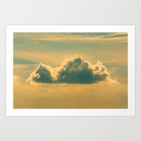 castle in the sky Art Prints featuring Castle In The Sky by Faded  Photos