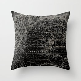 Venezuela Antique Map Throw Pillow