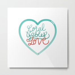 Coral Gables Love Metal Print