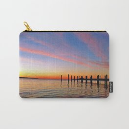 Sunrise and pier on Patuxent River, Maryland Carry-All Pouch