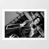 trumpet Art Prints featuring Trumpet by Enrico Ponzoni