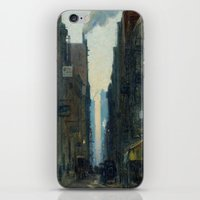 nan lawson iPhone & iPod Skins featuring New York Street Scene - Ernest Lawson by BravuraMedia