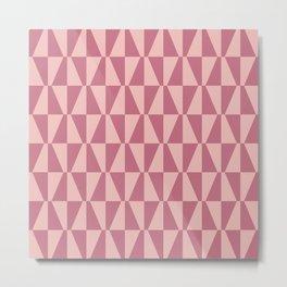 Mid Century Modern Geometric 315 Dusty Rose Metal Print