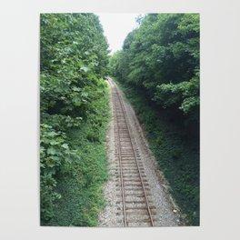 Railway in summer Poster