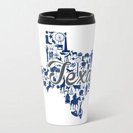 Rice -Texas Landmark State - Gray and Blue Rice University Theme Travel Mug