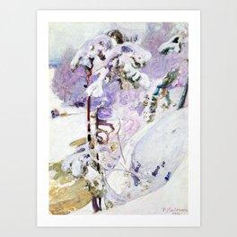 Pekka Halonen Early spring Art Print