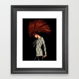 Lady Grinning Soul Framed Art Print