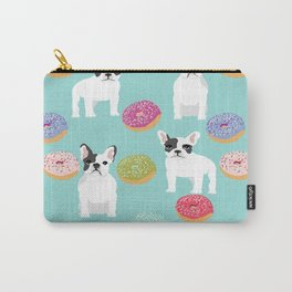 French Bulldog cute mint pastel cute donuts sweet treat doughnuts junk food dessert foods and dogs Carry-All Pouch