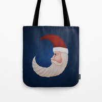 santa Tote Bags featuring Santa  by Brandy Coleman Ford