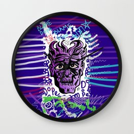 Dope Creates Monsters Remixed Wall Clock