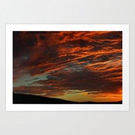 Metate Meadows Sunset Art Print