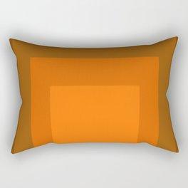 Block Colors - Orange Rectangular Pillow