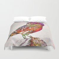 birds Duvet Covers featuring birds  by mark ashkenazi