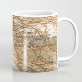 Hirosaki Castle Showa Period Hiroshi Yoshida Modern Japanese Woodblock Print Coffee Mug