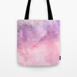 Pink Watercolor Texture Tote Bag