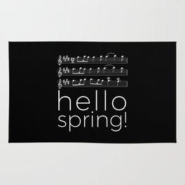 Hello spring! (black) Rug