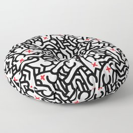 Keith Haring Variation #33 Floor Pillow