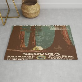 Vintage poster - Sequoia National ParkX Rug