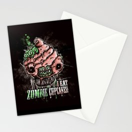 I Eat Zombie Cupcakes! Stationery Cards