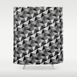 Pattern of triangles in gray shades Shower Curtain