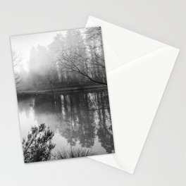 Misty Mallards Pike in Monochrome Stationery Cards