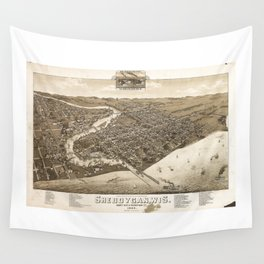 Aerial View of Sheboygan, Wisconsin (1885) Wall Tapestry