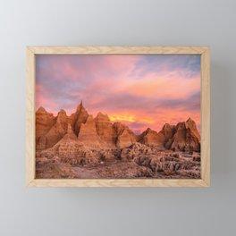 Winter Sunrise in Badlands National Park Framed Mini Art Print