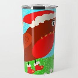 Christine the Christmas robin Travel Mug