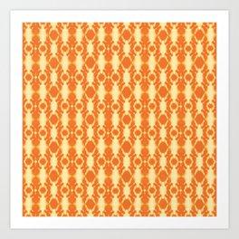 rotary tie-dye pattern in sunny yellows Art Print