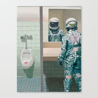 Canvas Prints featuring Men's Room by Scott Listfield