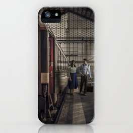 Couple in a Train Station iPhone Case