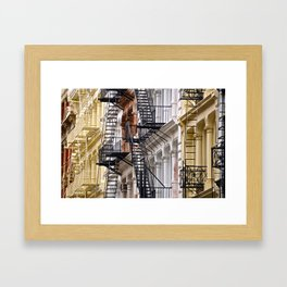 Fire Escapes of SoHo NYC Framed Art Print